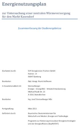 Energienutzungsplan Kasendorf