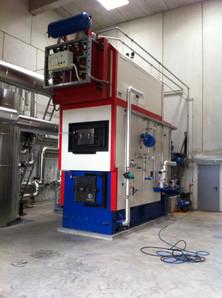 Biomasse Kessel Tausch