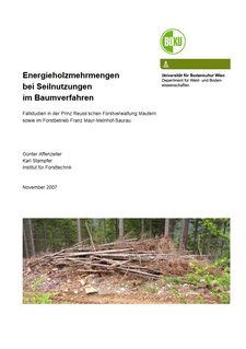 Energieholzmengen bei Seilnutzungen im Baumverfahren