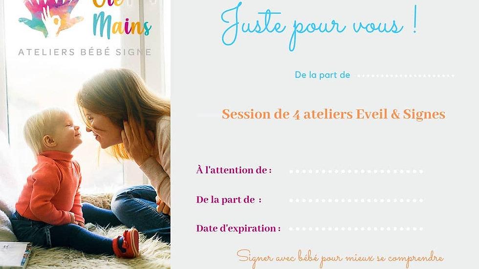 Chèque cadeau de 4 Ateliers Eveil&Signes