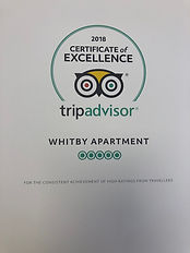 Trip advisor certificate of excellence 2018 Whitby holiday home