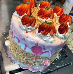 Strawberry Shortcake Drip Cake