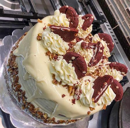 Red Velvet Drip Cookie Cake