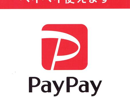 Paypayでのお支払いができます