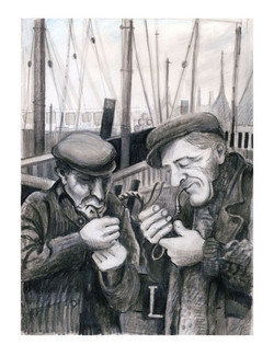 Two Old Men with Pipes