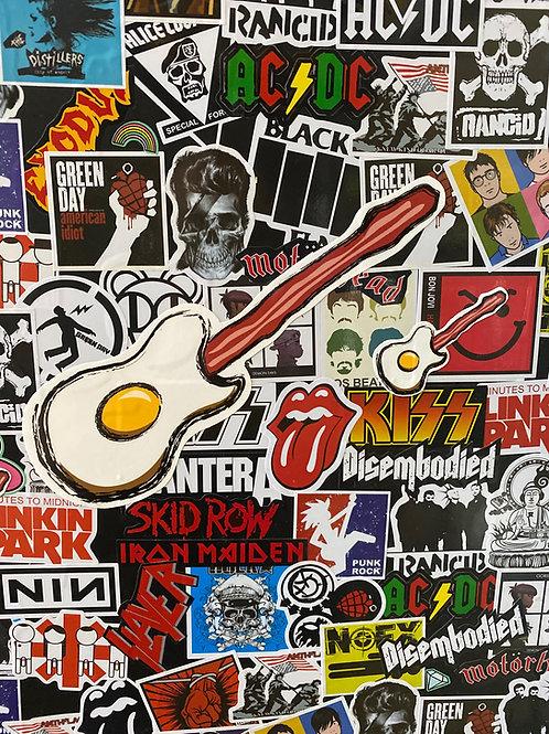 10 Inch Guitar Logo Sticker