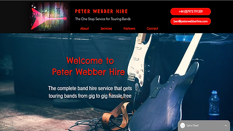 Peter Webber Hire WiX Website Created by https://www.whooshdesigns.co.uk