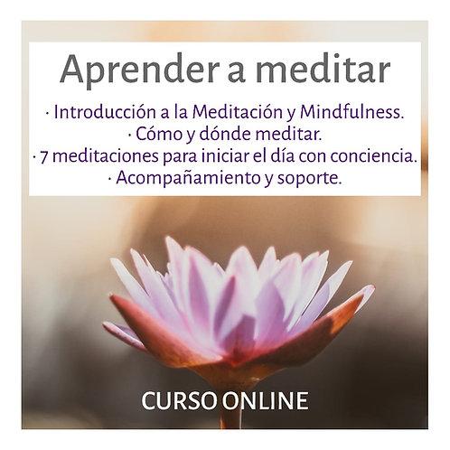 CURSO ONLINE: Aprender a meditar