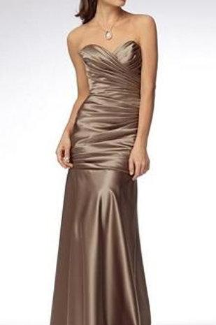 Champagne satin strapless dress