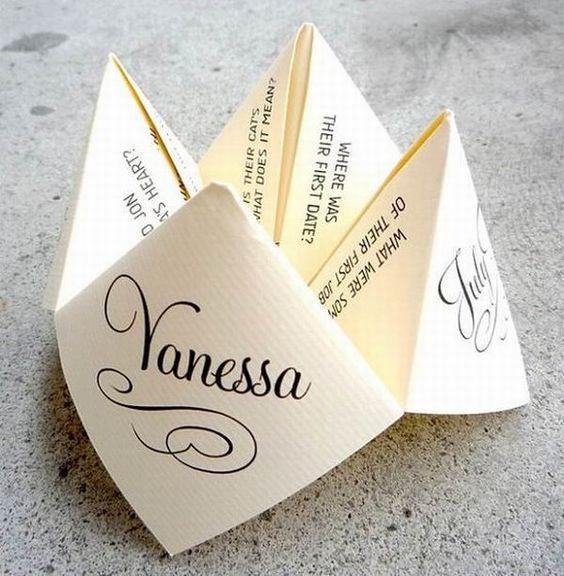 DIY wedding place name cards