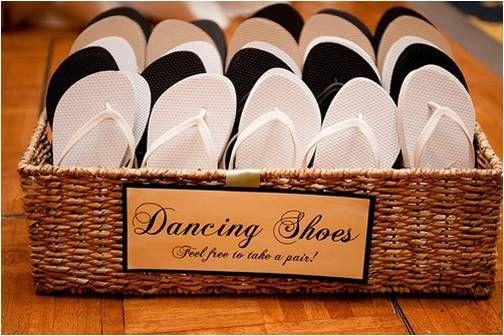 Wedding flip flops wedding favours