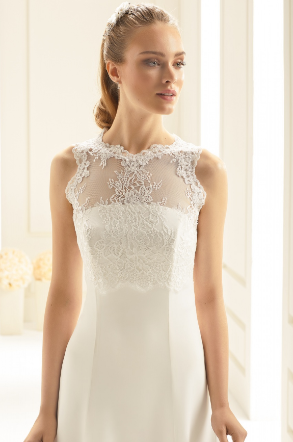 Beaded lace bridal bolero jacket
