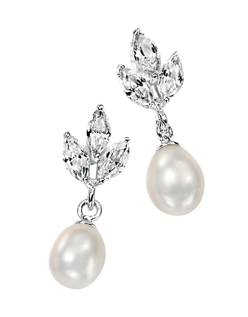 Stirling silver & pearl earrings