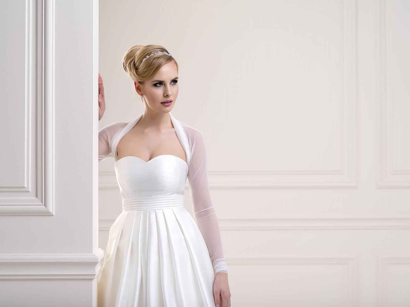 Sheer Bridal Bolero TJ86