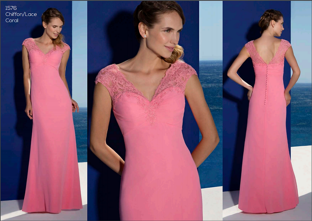 Sweetheart neckline lace strap bridesmaid dress
