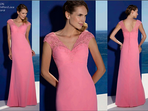 1576 Lace strap fitted dress