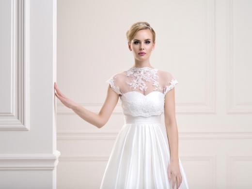 High neck lace bridal bolero jacket