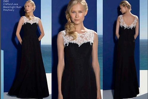 1580 Black floorlength dress