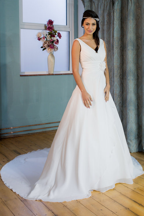 Victoria Kay Chiffon A-line wedding dress