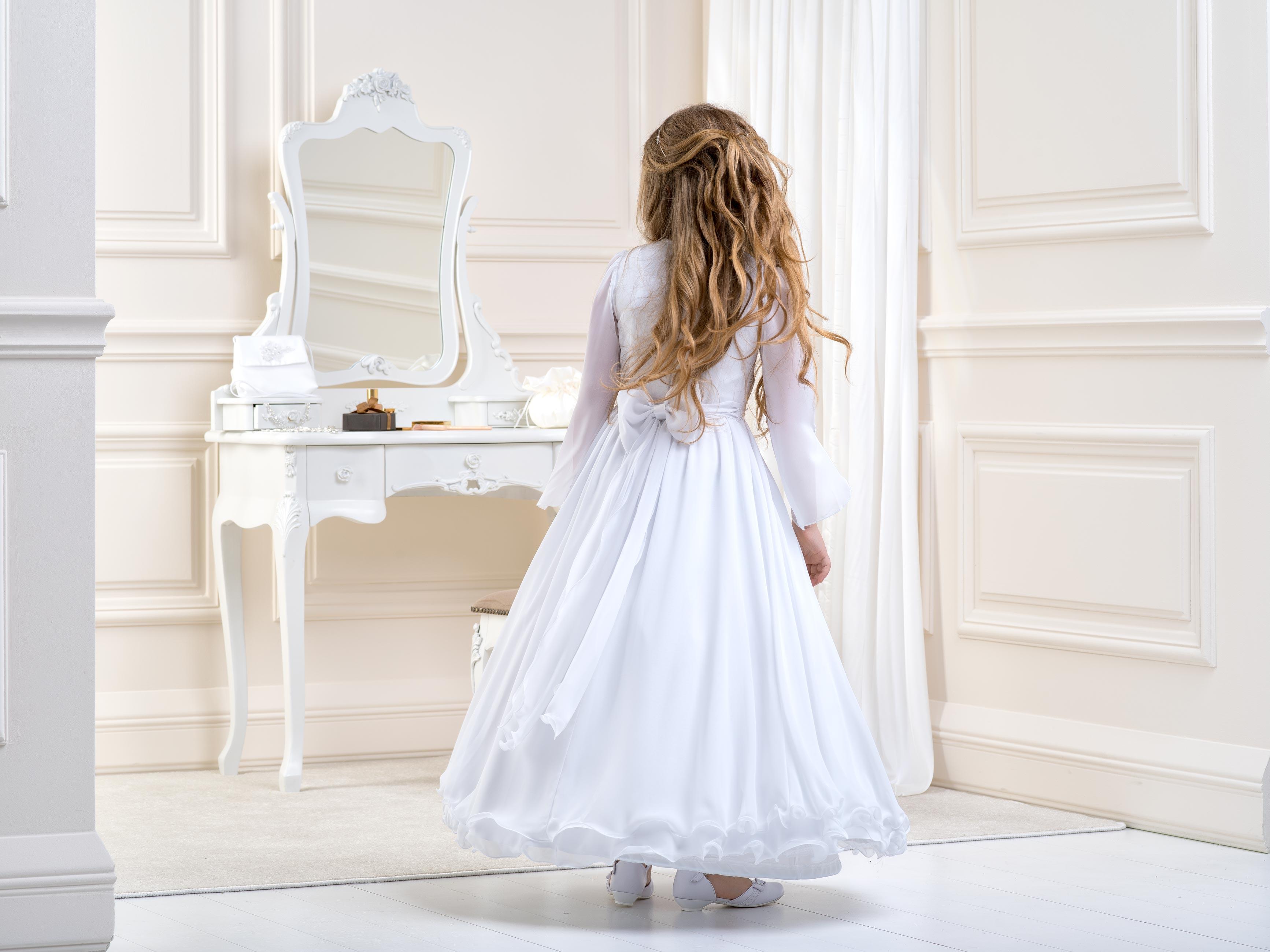 Flower girl/Communion Dress LB20Back
