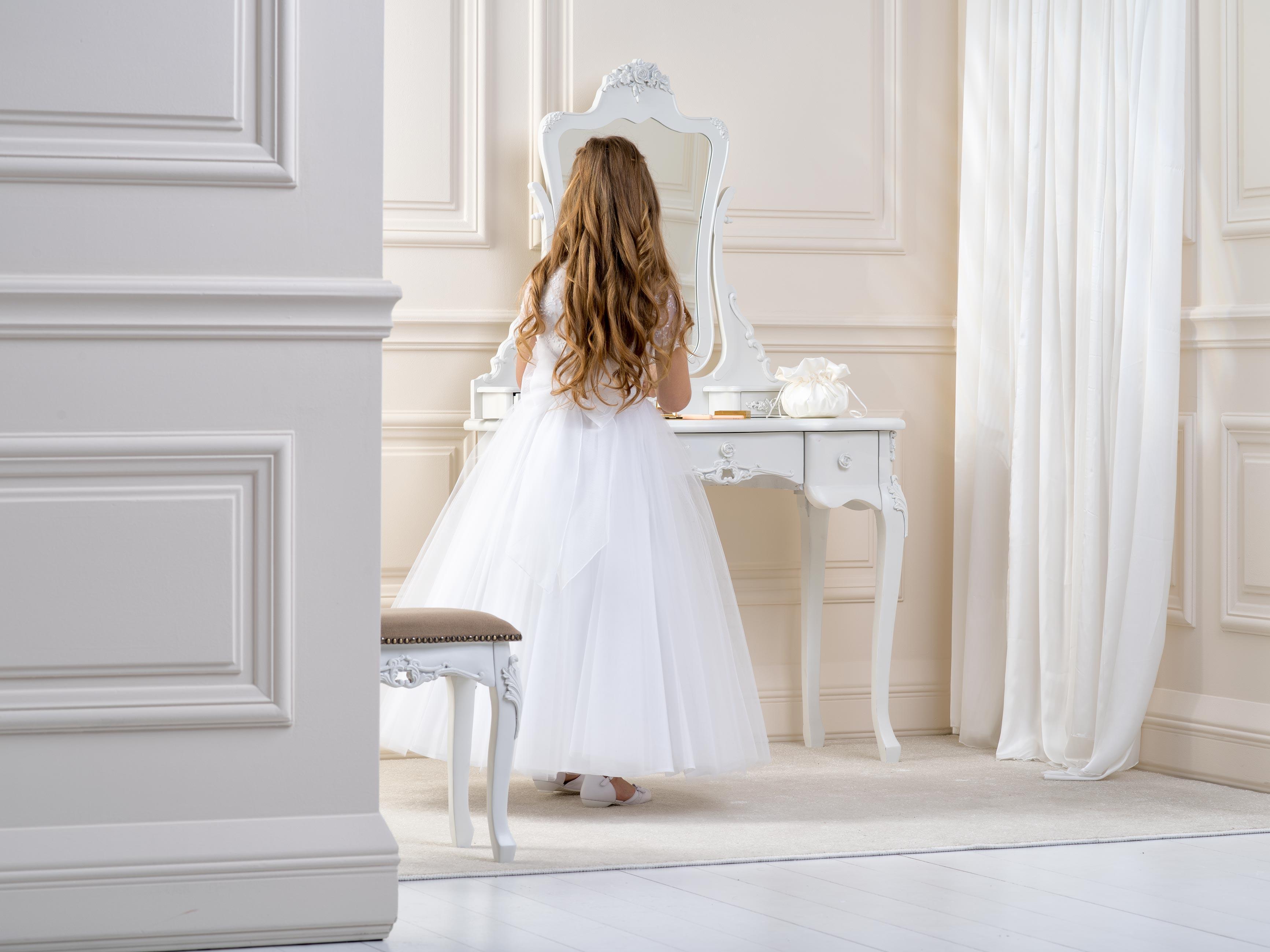 Flower girl/Communion Dress LB13back
