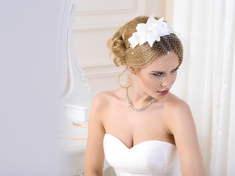 Birdcage veil Lief bridal shop Birmingham