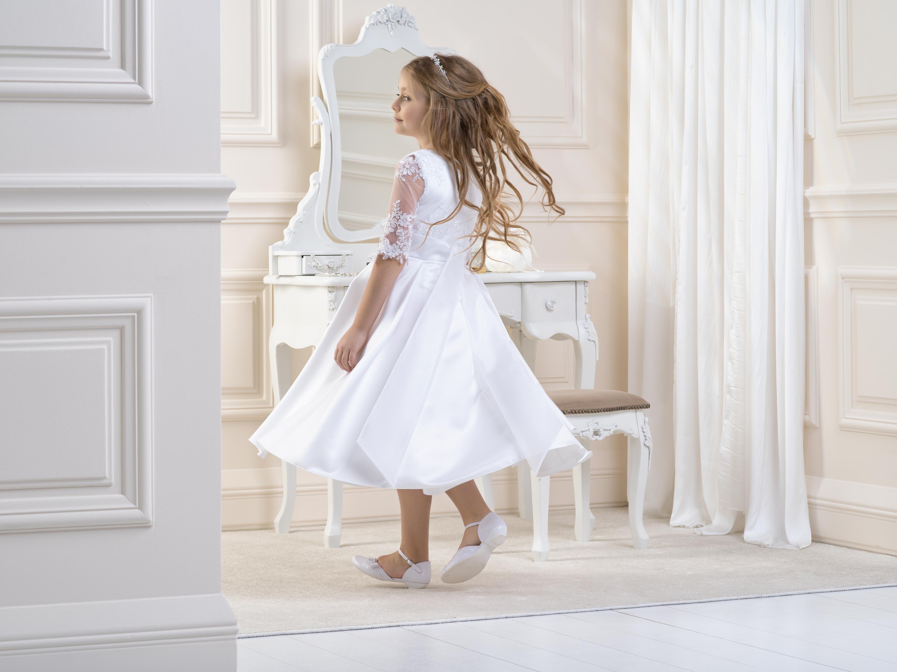Flower Girl/Communion Dress LB05back