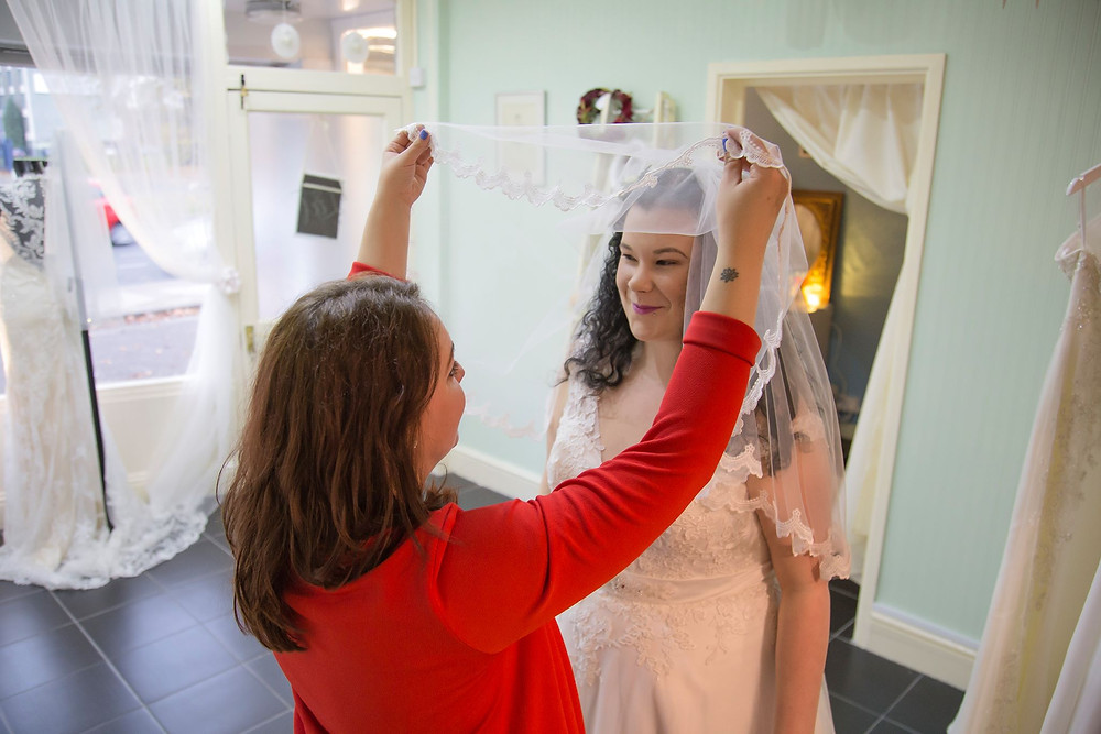 lifting the veil lief bridal shop Birmingham