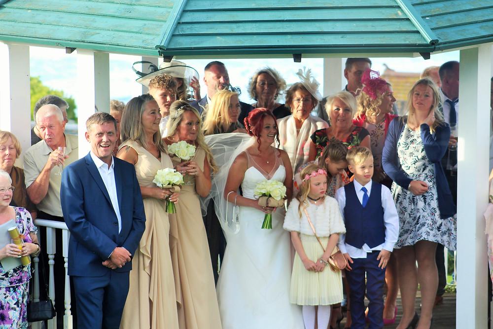 Relaxed beach wedding, destination wedding, A-line wedding dress