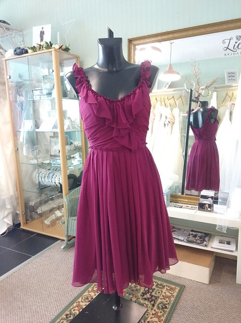 Plum purple knee length dress