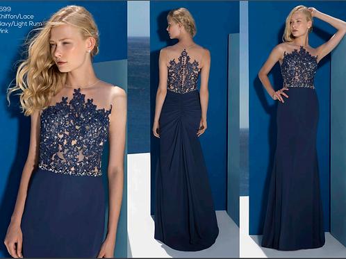 1599 Lace illusion dress