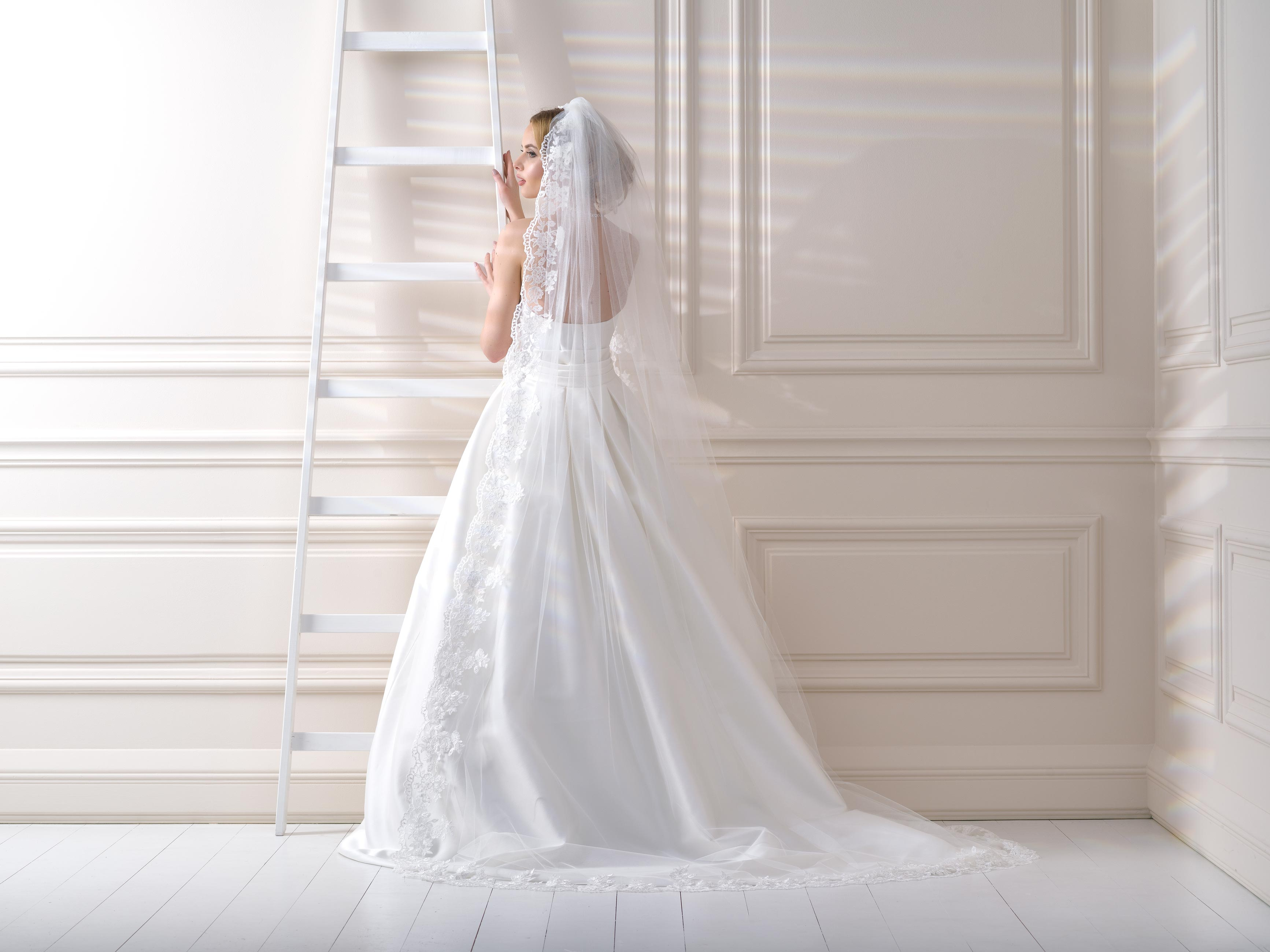 Lace Edge Wedding Veil LV102