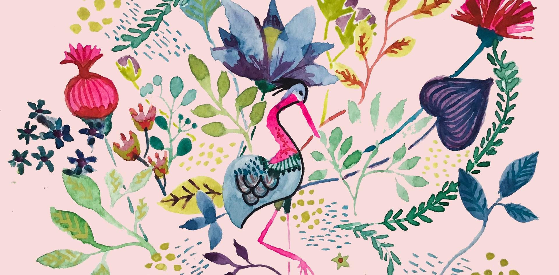 Pink Flowbird Flowers