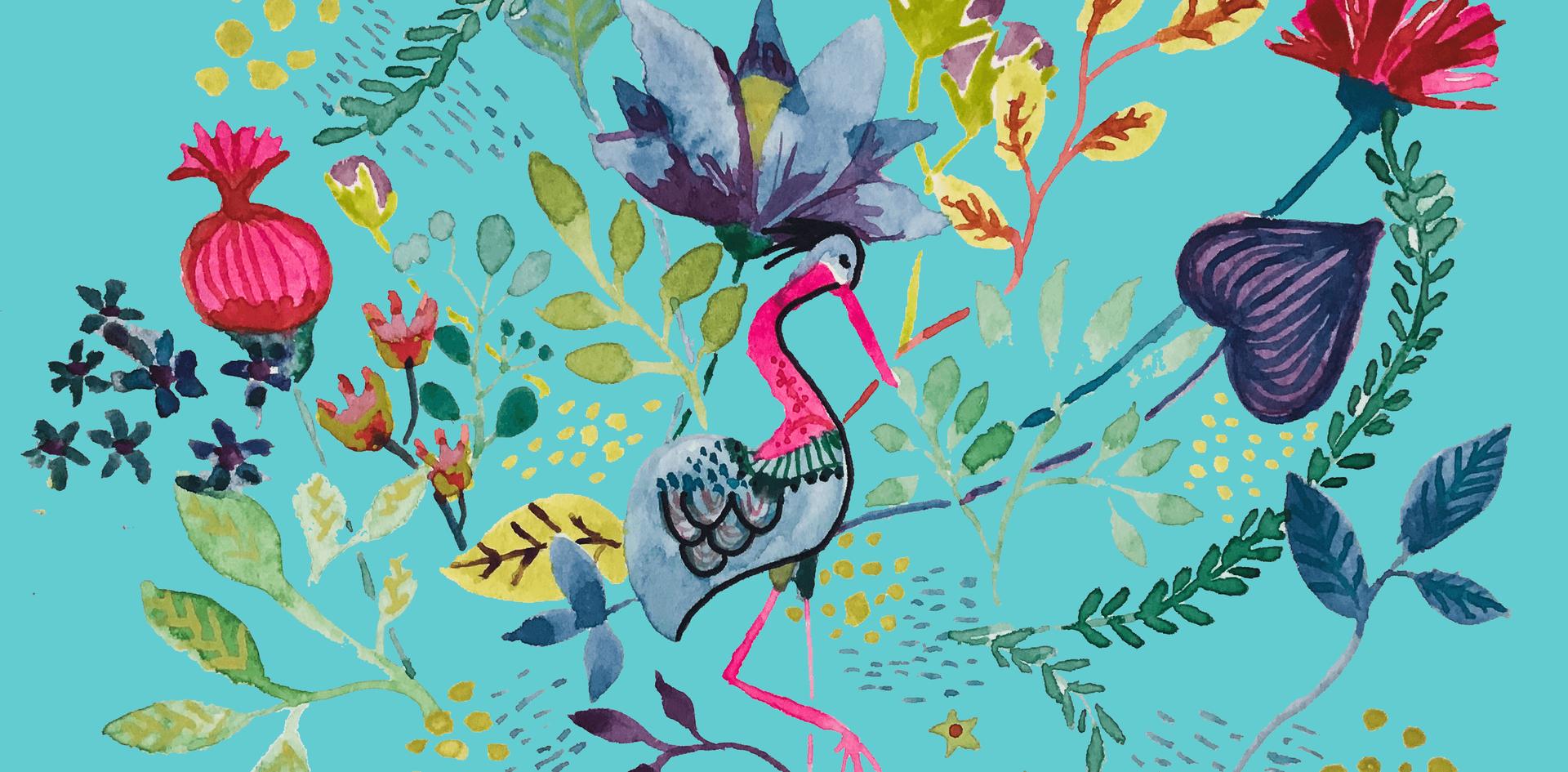 Blue Flowbird Flowers