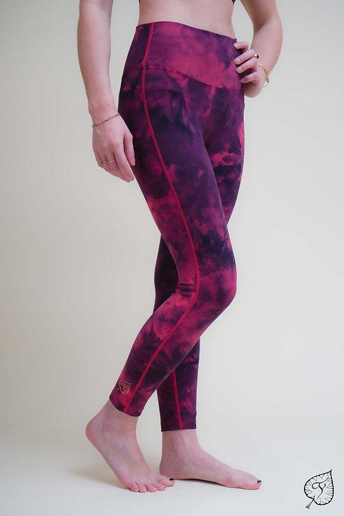 "Legging ""Tie & Dye"" Rouge"