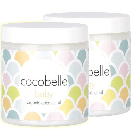 2x Cocobelle Baby Premium Organic Coconut Oil 8fl oz