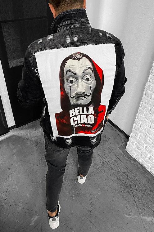 Bella Ciao vyriškas džinsinis švarkas