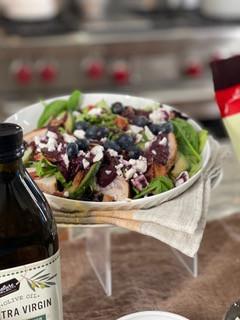 Summer Chicken Salad with Blueberry Vinaigrette