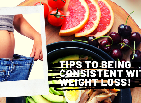 Tips to being Consistent in Weight Loss!