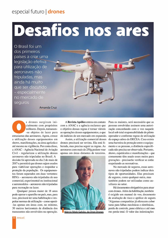 Revista Apólice sobre drones