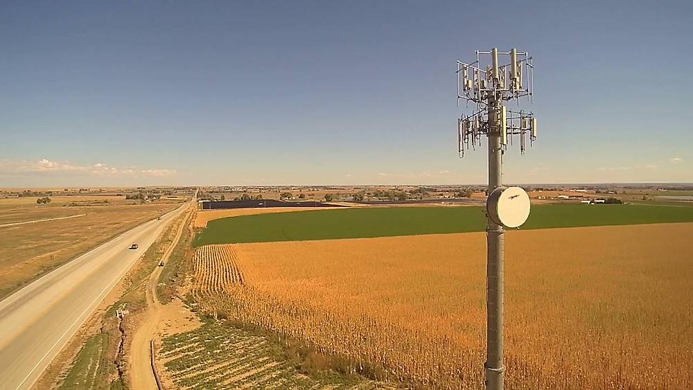 Drones na inspeção de torres de telecomunicações