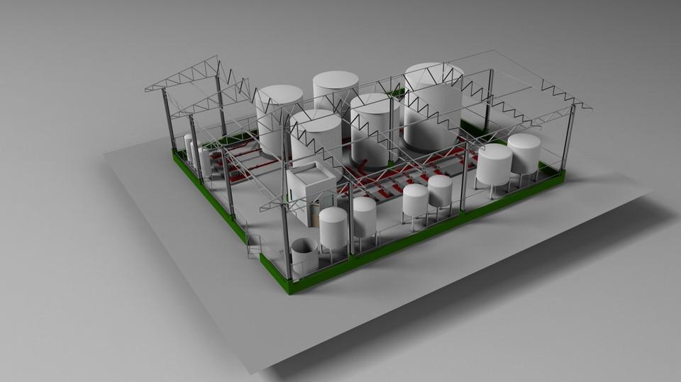 Drones com modelos 3D dos ativos e instalações industriais