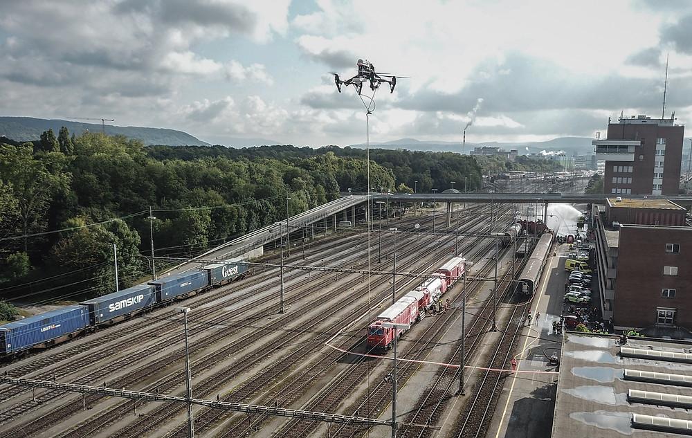 Vigilancia Ferroviária com drones - DronDrones