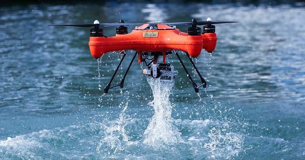 Drone na busca e salvamento