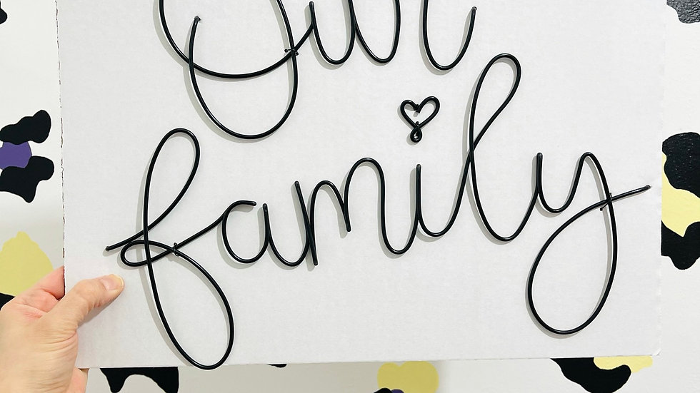 Our family (March font)