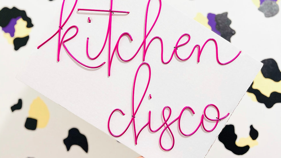 kitchen disco (October font)