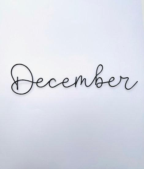 December font - XL size (tallest letters 15cm)