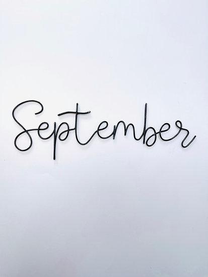 September font - large size (tallest letters 13cm)