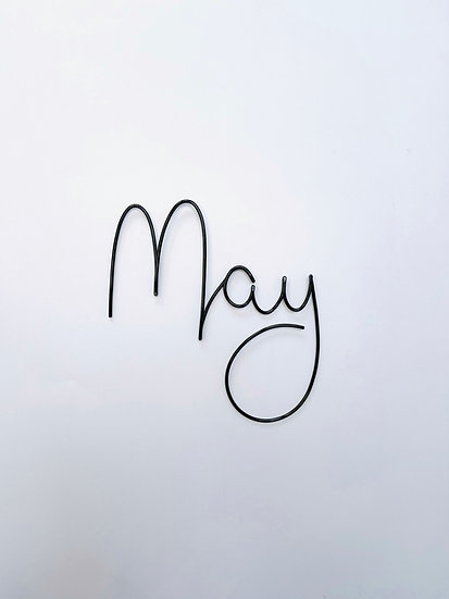 May font - large size (tallest letters 13cm)