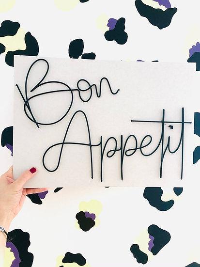 Bon Appetit (October font)